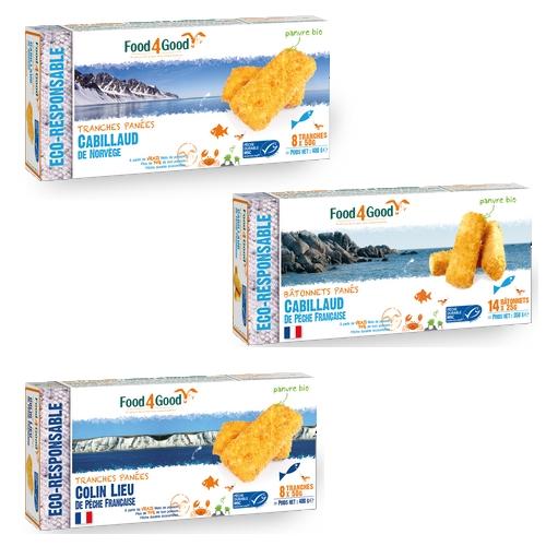 Poissons panés bios Food4Good