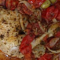 Wok de poulet et chorizo