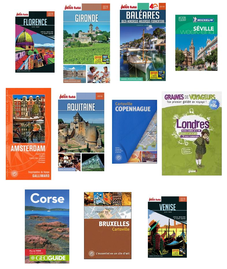 Sélection de guides touristiques