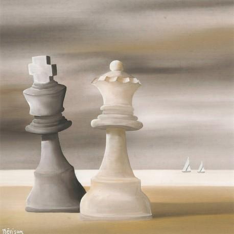 oeuvre-d-art-contemporain-carlo-trevisan-marina-con-scacchi