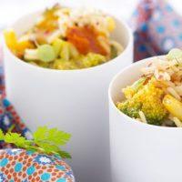 Riz pilaf à la poêlée de légumes