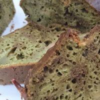 Cake olives, emmental, thé matcha