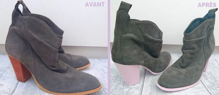 diy-bottines-grises-et-roses