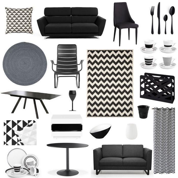 d co une envie de noir et blanc graphique avec delamaison so what. Black Bedroom Furniture Sets. Home Design Ideas