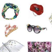 Mode : accessoires fleuris printemps été 2017