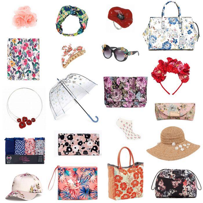 On ose les accessoires fleuris qui donnent une touche printanière et  originale à une tenue classique ou un total looks fleurs.