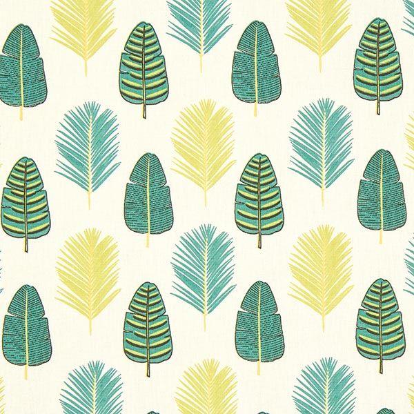 Cretonne feuilles de palmier Tissus.net