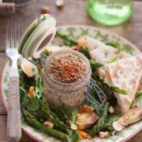 Terrine végétale noisette, échalote et champignons