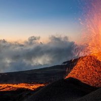 Éruption du Piton de La Fournaise le vendredi 13 juillet