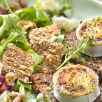 Salade d'automne lardons et chèvre