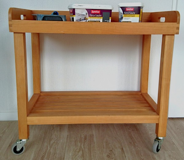 Diy relooker une desserte de cuisine so what - Nettoyer un meuble en bois avec du vinaigre blanc ...