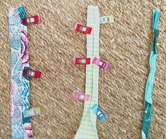 diy collier en tissu tresse a 5 brins