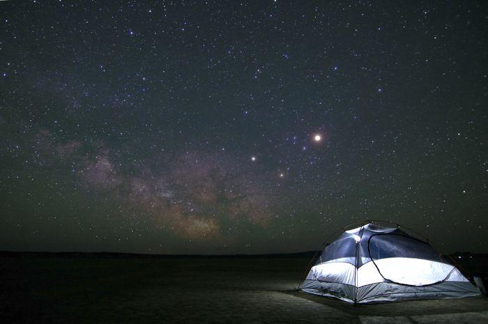 camping ciel bulle