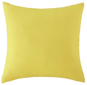 coussin d'extérieur jaune