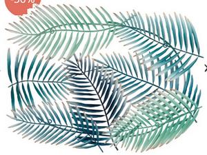 deco murale palmes métal