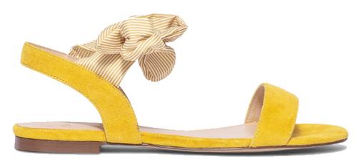 sandales plates cuir jaune bocage
