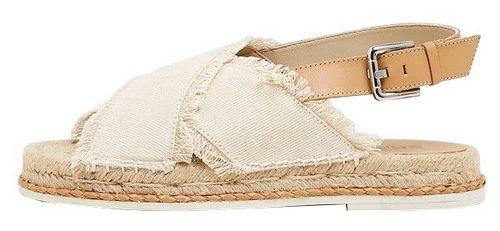 sandales plates raphia esprit