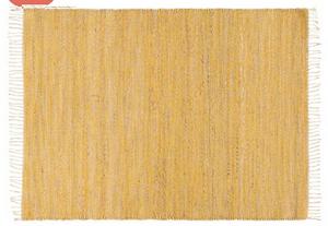 tapis tressé jute coton jaune
