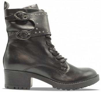 bottes motarde cuir noires
