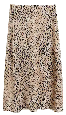 jupe midi leopard mango