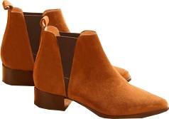 boots chelsea cuir velours femme