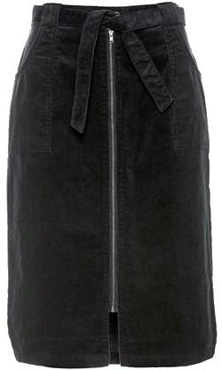 jupe droite midi ceinture velours bon prix
