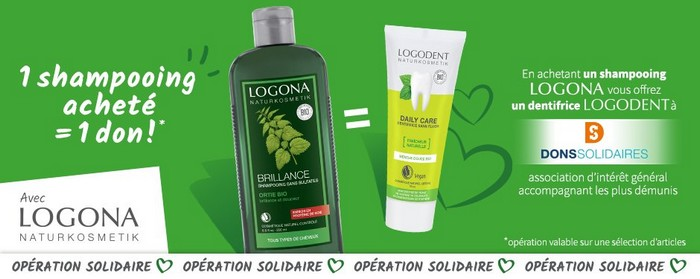 operation solidaire logona dentifrice