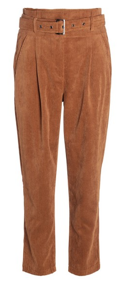 pantalon carotte velours cache cache
