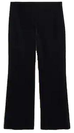 pantalon flair velours côtelé mango
