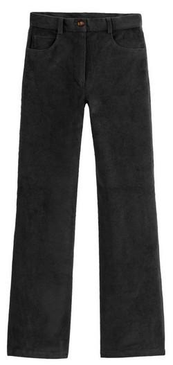 pantalon large velours noir