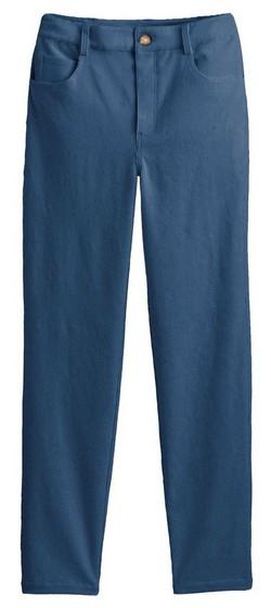 pantalon mum velours bleu