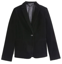 veste velours femme noire monoprix