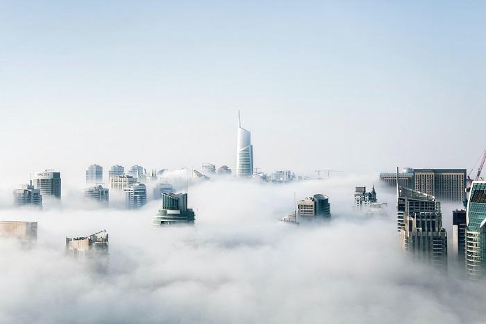 Une ville sous la pollution