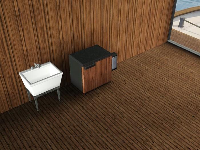 Les Sims 3 bateau rdc presque vide sans motherlode
