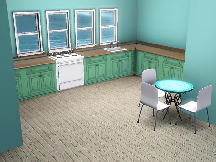 Les Sims 3 maison bois verte isla paradiso intérieur sans motherlode