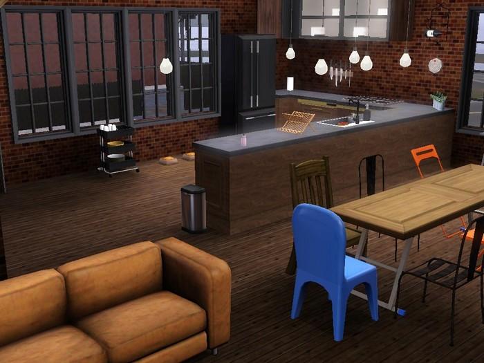 Les Sims 3 maison hangar Bridgeport