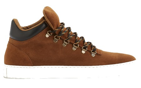 baskets cuir homme marron