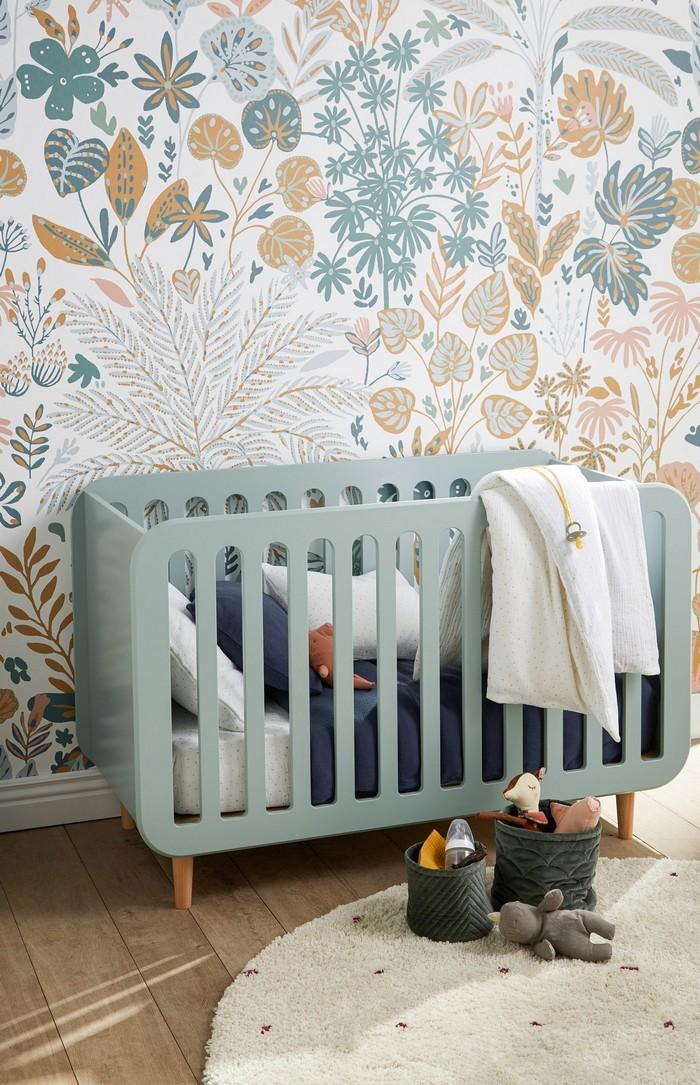 déco chambre enfants papier peint imprimé nature © La Redoute