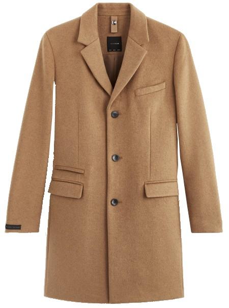 manteau laine homme camel