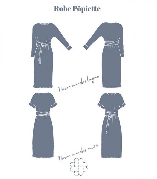 patron robe popiette site cousette