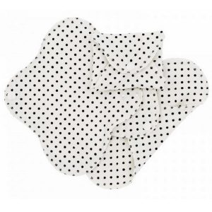 Lot de 3 serviettes hygiéniques lavables Dots