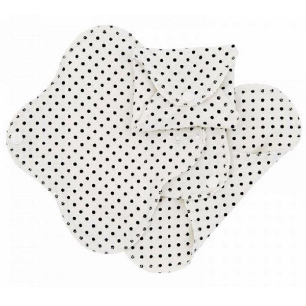 Lot de 3 serviettes hygiéniques lavables Dots