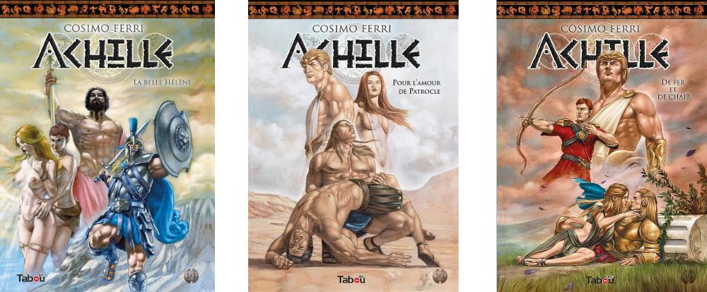 Achille Tabou BD érotiques tomes 1 à 3