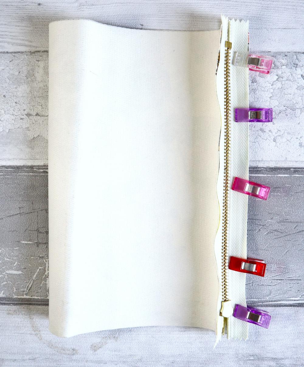 DIY trousse crayons simple assembler autre côté fermeture et tissu